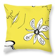 Serenity In Yellow Throw Pillow by Mary Mikawoz
