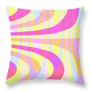 Seventies Swirls Throw Pillow by Louisa Knight