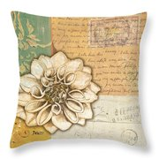 Shabby Chic Floral 1 Throw Pillow by Debbie DeWitt