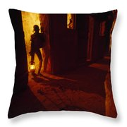 Shackles In Cell On Goree Island Recall Throw Pillow by Gordon Gahan