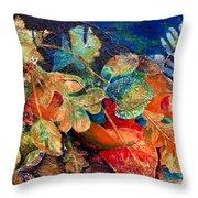 Shades Of Leafin An Imprint Throw Pillow by Jo-Anne Gazo-McKim