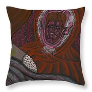 Shamsiel And The Little Father Throw Pillow by Al Goldfarb
