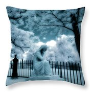 She Dreams In Blue Throw Pillow by Gothicolors Donna Snyder