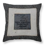 Shea Stadium Third Base Throw Pillow by Rob Hans
