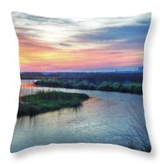 Shelby Lake Monday Hurricane Throw Pillow by Michael Thomas