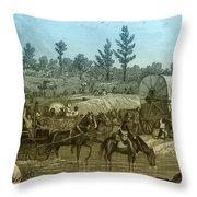 Shermans March Through Georgia Throw Pillow by Photo Researchers