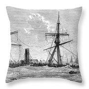 Shipwrecks, 1875 Throw Pillow by Granger
