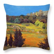 Sicily Landscape Throw Pillow by Judith Barath