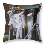 Sideboys Made Up Of Officers Throw Pillow by Michael Wood