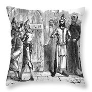 Siege Of Baghdad, 1258 Throw Pillow by Granger