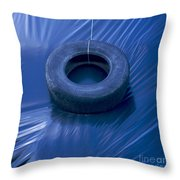 Silage Throw Pillow by BERNARD JAUBERT