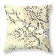 Silver Snowflake Throw Pillow by Sandra Cunningham