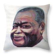 Simon Kimbangu Throw Pillow by Emmanuel Baliyanga