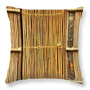 Simple Bamboo Door Throw Pillow by Yali Shi