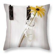Single Rudbeckia Flower Throw Pillow by Amanda And Christopher Elwell