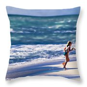 Sister Fun Throw Pillow by Patrick M Lynch