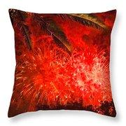 Sky Fire Throw Pillow by Debra and Dave Vanderlaan