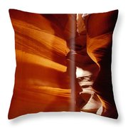 Slot Canyon Shaft Of Light Throw Pillow by Garry Gay