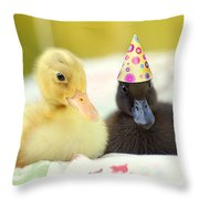 Slumber Party Throw Pillow by Amy Tyler