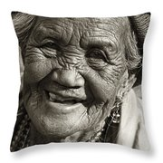 Smile Throw Pillow by Skip Nall