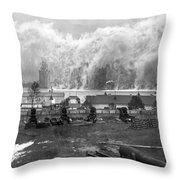 Smoke Screen Around Manhattan Throw Pillow by Underwood Archives