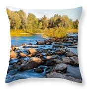 Smooth Rapids Throw Pillow by Robert Bales