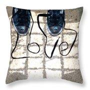Sneaker Love 1 Throw Pillow by Paul Ward