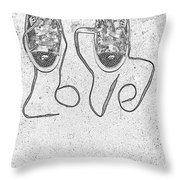 Sneaker Love 2 Throw Pillow by Paul Ward