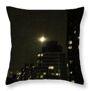 Snow Moon Throw Pillow by Madeline Ellis