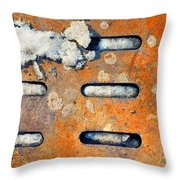 Snow On Ground Throw Pillow by Silvia Ganora