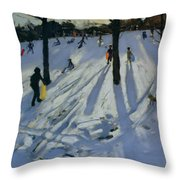 Snow Rykneld Park Derby Throw Pillow by Andrew Macara