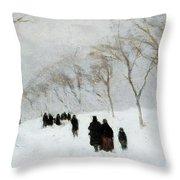 Snow Storm Throw Pillow by Anton Mauve