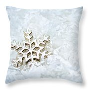 Snowflake Throw Pillow by Darren Fisher