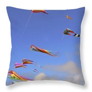 Soaring With The Clouds Throw Pillow by Pamela Patch