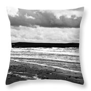 Solitary Man On A Lonely Beach Throw Pillow by Nomad Art And  Design