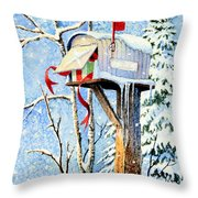 Somebody Was Snooping Throw Pillow by Hanne Lore Koehler