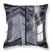 Something Wicked - Cross Your Eyes And Focus On The Middle Image Throw Pillow by Brian Wallace