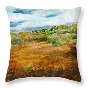 Somewhere In September Throw Pillow by Brett Pfister