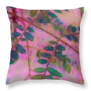 Song Of The Honey Locust Throw Pillow by Judi Bagwell