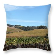 Sonoma Vineyards - Sonoma California - 5D19309 Throw Pillow by Wingsdomain Art and Photography