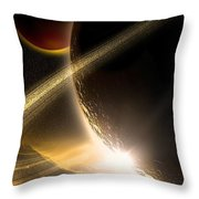 Space002 Throw Pillow by Svetlana Sewell