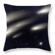 Space011 Throw Pillow by Svetlana Sewell