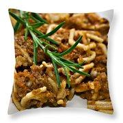 Spaghetti With Sauce Throw Pillow by Susan Leggett