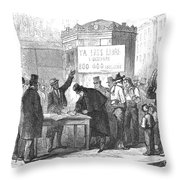 Spain: Abolitionists, 1869 Throw Pillow by Granger