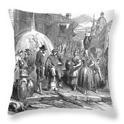 Spain: Madrid, 1848 Throw Pillow by Granger