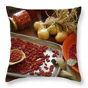 Spicy Still Life Throw Pillow by Carlos Caetano