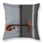 Spike latch Throw Pillow by Intensivelight