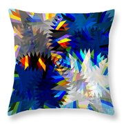 Spinning Saw Throw Pillow by Atiketta Sangasaeng