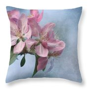 Spring Blossoms For The Cure Throw Pillow by Kim Hojnacki