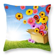 Spring Delivery Throw Pillow by Carlos Caetano